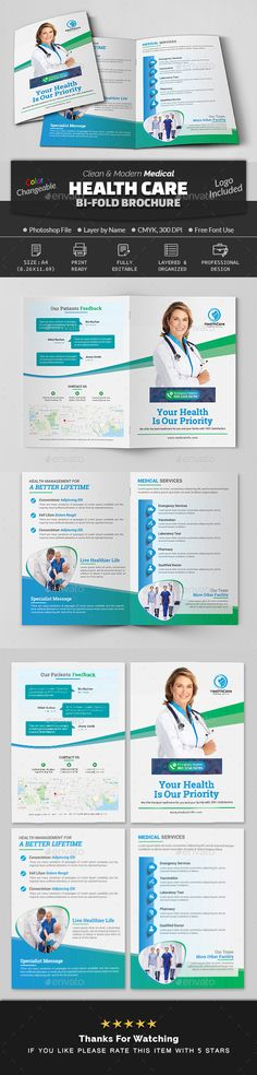 Buy Medical Health Care Bi Fold Brochure by Creative-Touch on GraphicRiver. This Brochure Template is perfectly suitable for promoting your Business. Bi Fold Brochure, Business Brochure, Brochure Design, Brochure Template, Long Term Care Insurance, Group Health Insurance, Medical Health Care, Wellness, Health Logo