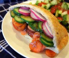 Vegetable Pita Sandwich Recipe - cool, crisp, refreshing and simple