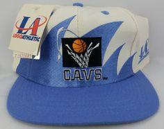 9698cc54b9b32 Cleveland Cavaliers Vintage Snapback Logo Athletic Sharktooth Hat NBA Cap  NWT Nba Caps