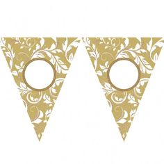 Amscan | Gold Bunting | Anniversary Party Supplies