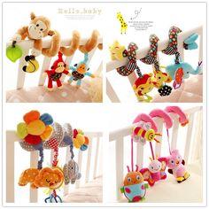 멀티 스타일 유모차 딸랑이 아기 toys 다기능 매달려 침대 벨 학습 및 교육 toys 0-12 개월 선물