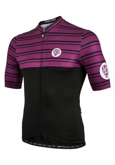 All Day Double Stripe Jersey Plum