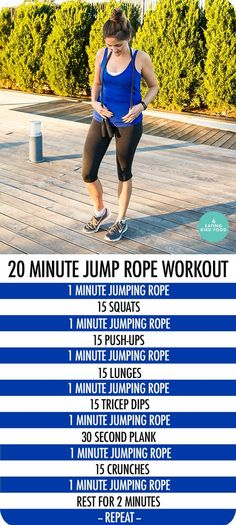 Lose Fat Running to Lose Weight - 20 Minute Jump Rope Workout that combines cardio and toning - Learn how to lose weight running - Do this simple 2 -minute ritual to lose 1 pound of belly fat every 72 hours Fitness Workouts, Training Fitness, Cardio Training, Sport Fitness, At Home Workouts, Health Fitness, Fitness Weightloss, Fitness Motivation, Cardio Workouts