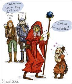 """Bupu: The reason Raistlin hates Sturm and Tanis""    :)"