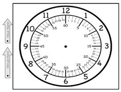 This is a printable clock face showing hours, minutes by 5 and minutes by There are 2 hands to attach to the clock and say minute hand and hour hand. This should be printed on heavy card stock and laminated for extended use. Teaching Clock, Teaching Time, Teaching Math, Math Resources, Math Activities, Clock Worksheets, Number Worksheets, Alphabet Worksheets, Math Clock