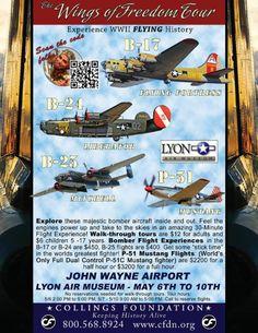 Collings Foundation Wings of Freedom flying tour. Lyon Air Museum, John Wayne Airport.