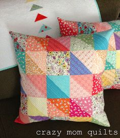 crazy mom quilts: one way to distress fabric
