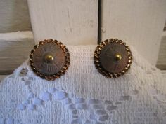 Vintage copper and clay earrings by casellascreations on Etsy