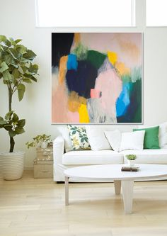 Original abstract giclée Print of painting with by LolaDonoghue