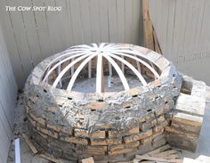 Well, our outdoor patio project is dragging rolling along. Let me start by saying I realize we have been talking about this project . Diy Pizza Oven, Pizza Oven Outdoor, Outdoor Grilling, Pizza Ovens, Brick Pathway, Cow Spots, Four A Pizza, Best Oven, Oven Recipes