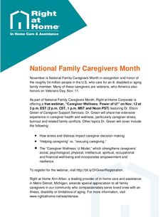 In this #AnnArbor #HomeCare Tip, learn about national and local organizations and online resources available to #familycaregivers. For more #familycaregiving information and #seniorcare articles, visit http://www.rightathome.net/washtenaw/blog/. #homecaretips #caregivingtips #elderlycare #aging