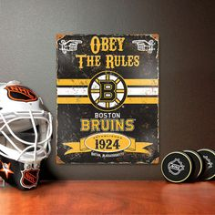 """These attractive embossed metal signs have an authentic vintage look!  - Features a realistic weathered design and embossed lettering. - Made from HEAVY DUTY steel. - Riveted in all four corners for easy hanging. - Perfect addition for fan caves, offices, bedrooms, or recreation rooms! - Sign measures 11.5"""" x 14.5"""""""