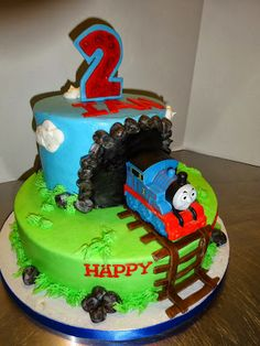 Cakes by Paula: Thomas the Train birthday Party