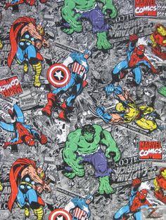 Superhero Print 100 Cotton Fabric  Marvel Comics  by BigZFabric, $10.99