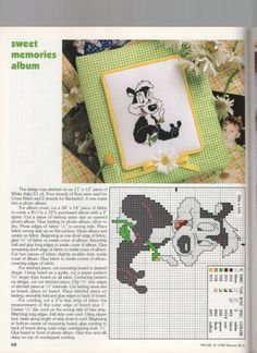 Cross-stitch PEPE LE PEW