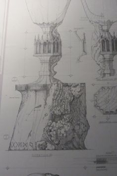 technical drawing, harry potter studios