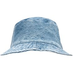 Motel Vintage Denim Bucket Hat ($22) ❤ liked on Polyvore featuring accessories, hats, fishing hat, bucket hat, denim bucket hat, vintage hats and fisherman hat