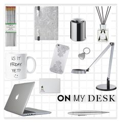 """""""On My Desk"""" by molly2222 ❤ liked on Polyvore featuring interior, interiors, interior design, home, home decor, interior decorating, Giuliano Mazzuoli, Beyond Object, i am a and George Kovacs by Minka"""