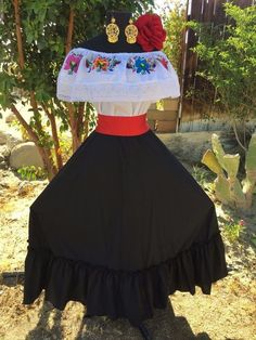 Mexican Dress Fiesta,5 De Mayo,Wedding Black 2 Piece.Vestido de Fiesta Mexicana | Clothing, Shoes & Accessories, Women's Clothing, Dresses | eBay!