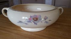 Bryn Mawr by Salem Footed Serving Bowl Floral Pattern China FREE SHIPPING