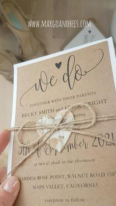 Handmade Wedding Invitations, Rustic Invitations, Wedding Invitation Design, Wedding Stationary, Wedding Favors, Wedding Decorations, Wedding Ideas, Cake Wedding, Rustic Wedding Invitations Diy