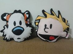 I think I need these! Calvin and Hobbes pillows...