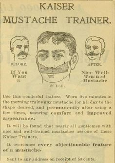 This moustache trainer from 1901. | 25 Health Products You'll Be Glad You Don't See Today