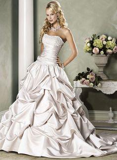 Luxury Ivory Ball Gown Scoop Neckline Sequins Wedding Dress