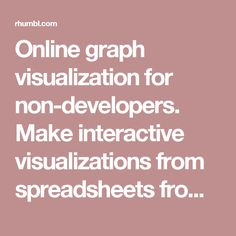 Online graph visualization for non-developers. Make interactive visualizations from spreadsheets from your browser.