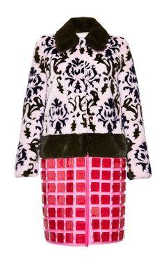 Check Pais Fur Coat In Fuchsia Philippe by Mary Katrantzou for Preorder on Moda Operandi