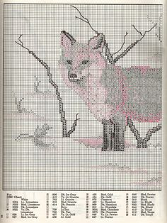 Fox Cross Stitch Pattern Part 1.  Part 2: http://www.megghy.com/puntocroce/animali/volpe_2.html