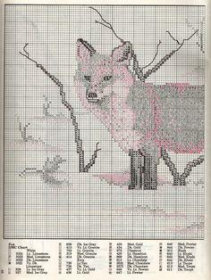 Fox Cross Stitch Pattern Part 1.  Part 2: http://www.megghy.com/puntocroce/animali/volpe_2.html