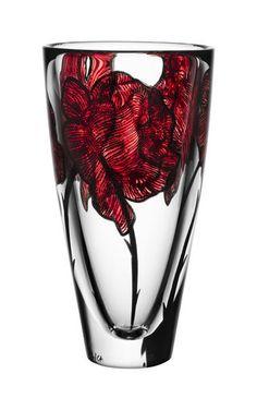 Kosta Boda Tattoo Vase :: Design Ludvig Löfgren (more on Color :: RED)