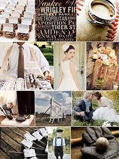 move baseball theme wedding ideas