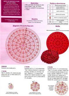 Puff Stitch Crochet, Crochet Beret, Crochet Box, Crochet Flowers, Knitted Hats, Crochet Quilt Pattern, Knitting Patterns, Crochet Patterns, Circular Pattern