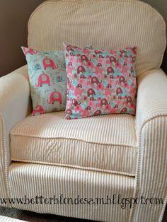 diy elephant nursery pillows