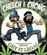 "Tommy Chong and Richard ""Cheech"" Marin"
