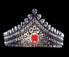 BIJOUX IMPERIAUX RUSSIE - couronne nuptiale en diamants, crée en 1840
