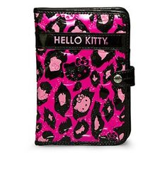 f8fb0874c355 Hello Kitty Pink Leopard Print Passport Case Stitch Backpack