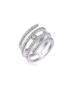 Love this Swarovski® Crystal & White Gold Spiral Ring on #zulily! #zulilyfinds