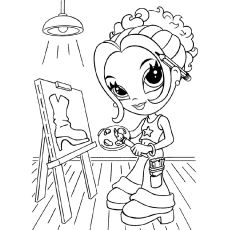top 25 free printable lisa frank coloring pages online - Girl Pictures To Color