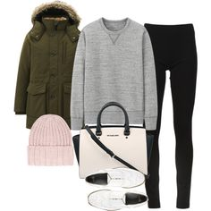 """inspired outfit for college in winter"" by whathayleywore on Polyvore"