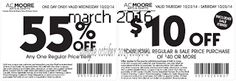 AC Moore Coupons Ends of Coupon Promo Codes MAY 2020 ! We and share create and more. Different Coupon types and it's use. Free Printable Coupons, Free Printable Calendar, Free Coupons, Ac Moore, How To Apply, Printables, Hot, February 2016, March