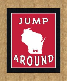 Jump Around University of Wisconsin 4th Quarter Tradition Ritual Camp Randall Stadium, Madison, Wisconsin 8X10 print.  RaleighGramDesign, $12.50