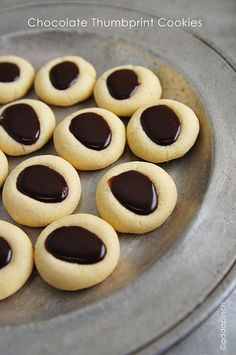 Chocolate Thumbprint Cookies. Because you have to have some sweet things in your life ;)