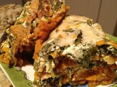 This Spinach Butternut Squash Lasagna is SO DELICIOUS!! #recipes #skinnyms #healthy