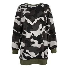Womens Army Camouflage Hoodie/ Long Sleeve Casual Sweatshirt