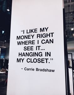 Preach it like Carrie Bradshaw 👏🏼✨ welke serie volg jij op dit moment? City Quotes, Mood Quotes, Pretty Words, Beautiful Words, Carrie Bradshaw Quotes, Les Sentiments, Fashion Quotes, Fashion Fashion, Happy Thoughts