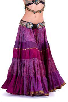 TRIBAL FUSION SKIRT vintage recycled sari skirt boho by AltshopUK