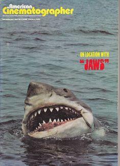 Throwback Thursday: Jaws Jaws Film, Jaws 1, Jaws Movie, Weird People At Walmart, Super Movie, Great White Shark, Steven Spielberg, Movie Props, Shark Week